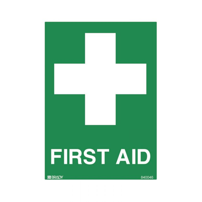 840046 Small Stick On Labels - First Aid