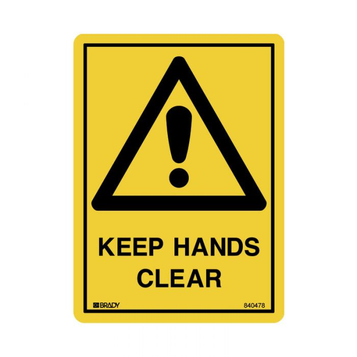 840478 Small Stick On Labels - Keep Hands Clear