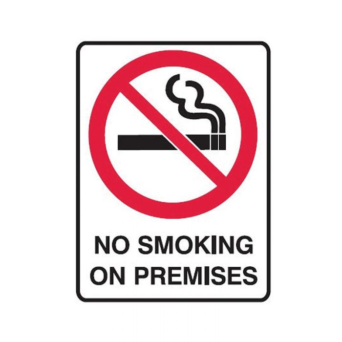 840565 Small Stick On Labels - No Smoking On Premises