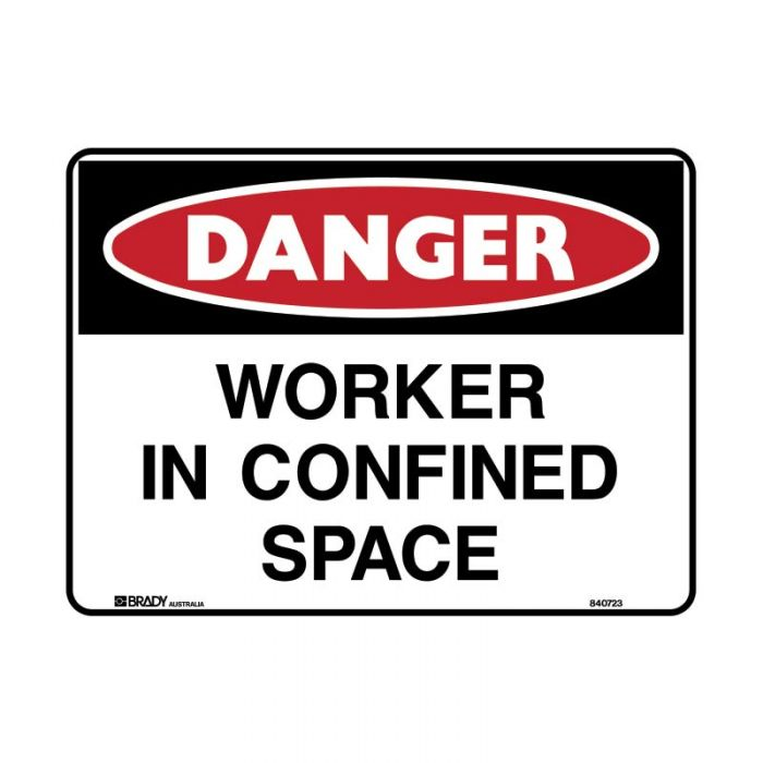 840723 Danger Sign - Worker In Confined Space