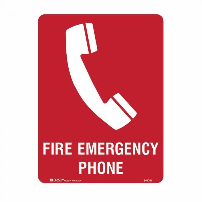 841051 Building & Construction Sign - Fire Emergency Phone
