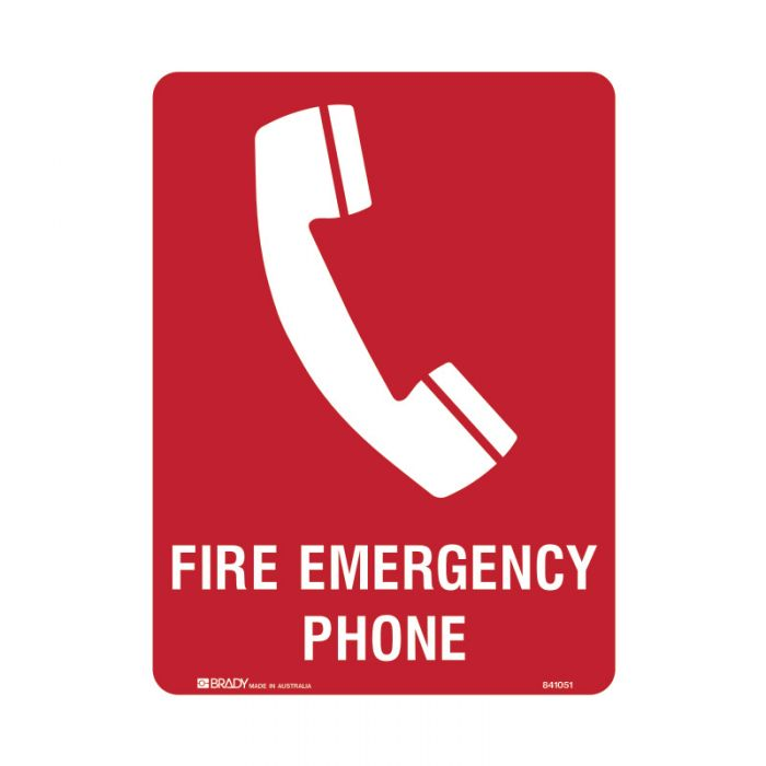 841053 Building & Construction Sign - Fire Emergency Phone