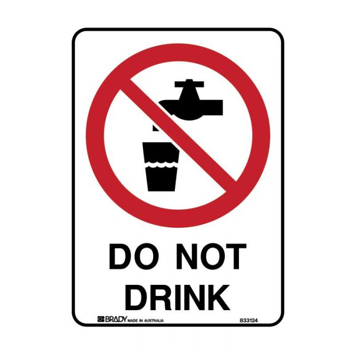 841142 Prohibition Sign - Do Not Drink