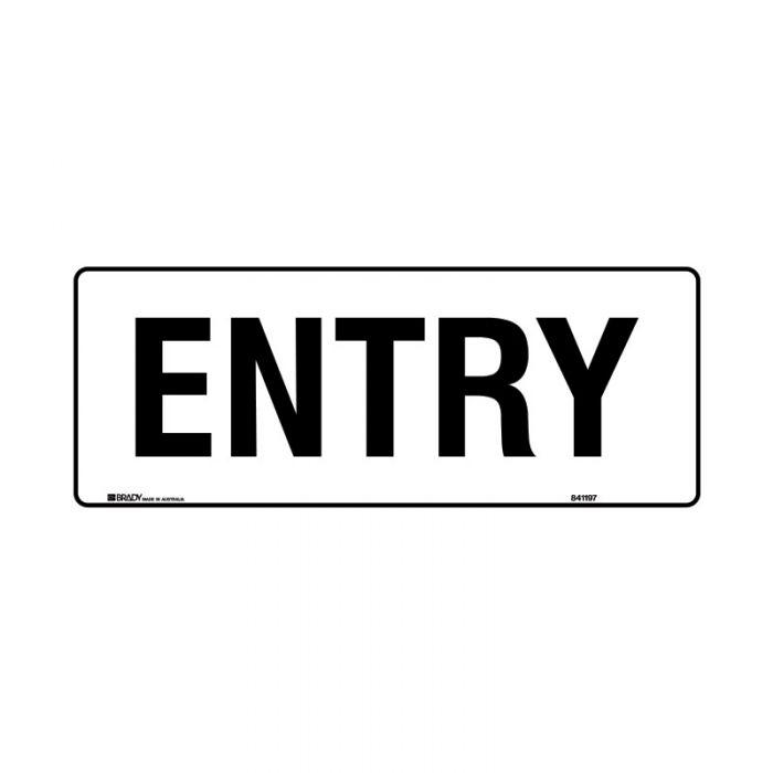 841196 Door Sign - Entry