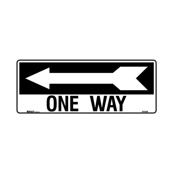 841259 Directional Sign - One Way Arrow Left