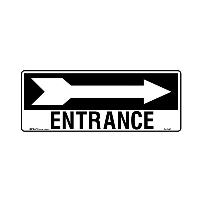 841267 Directional Sign - Entrance Arrow Right