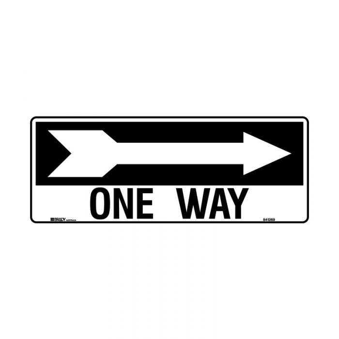 841269 Directional Sign - One Way Arrow Right
