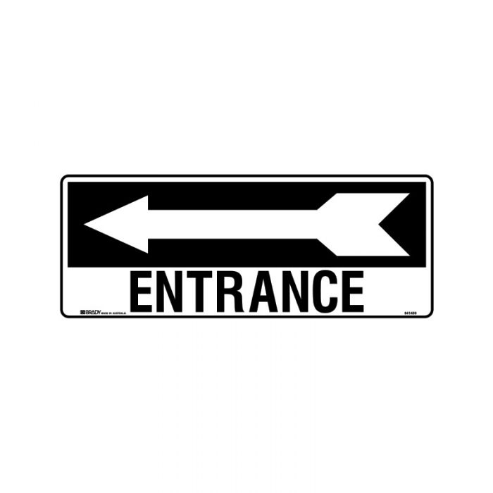 841410 Directional Sign - Entrance Arrow Left