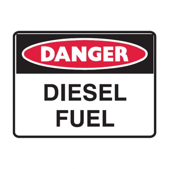 841453 Small Stick On Labels - Danger Diesel Fuel
