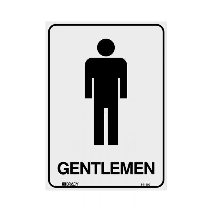 841499 Door Sign - Gentlemen