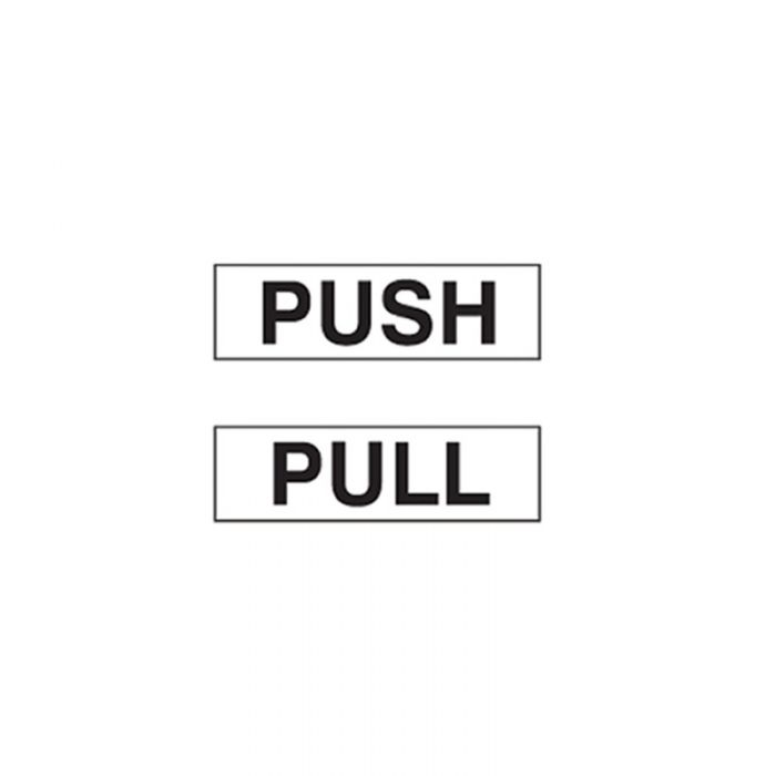 841509 Door Sign - Push-Pull Vertical White