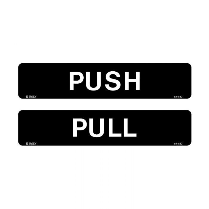841510 Door Sign - Push-Pull Black Horizontal