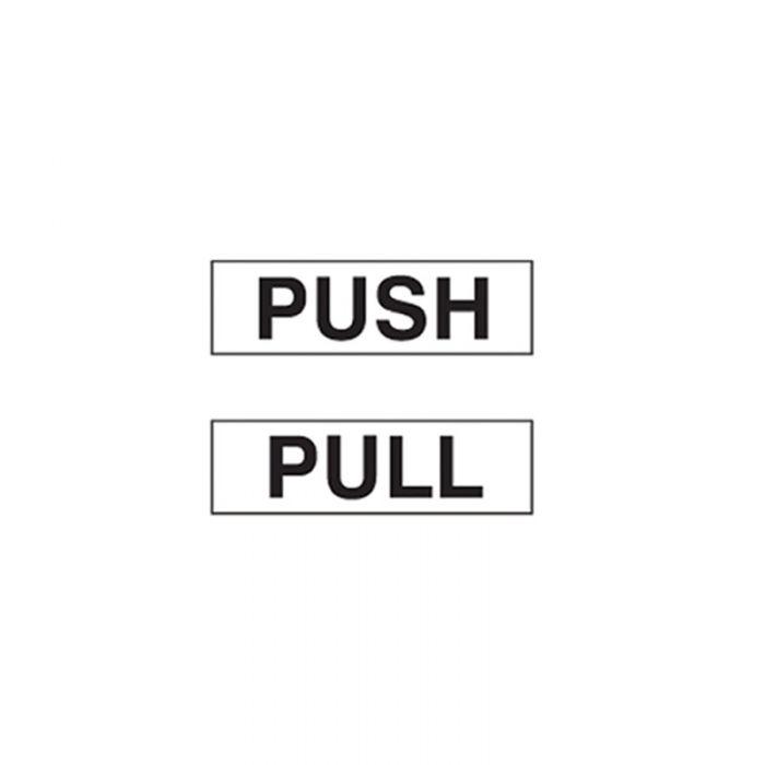 841511 Door Sign - Push-Pull White Horizontal