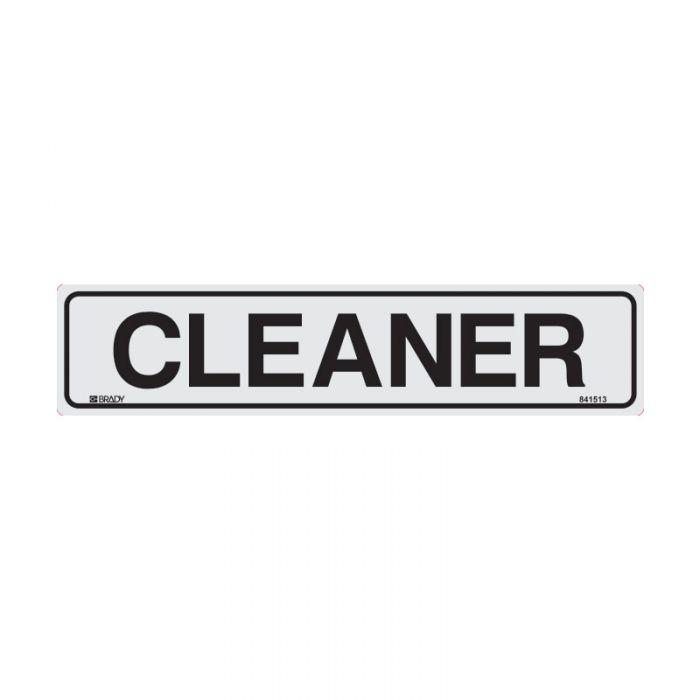 841513 Door Sign - Cleaner