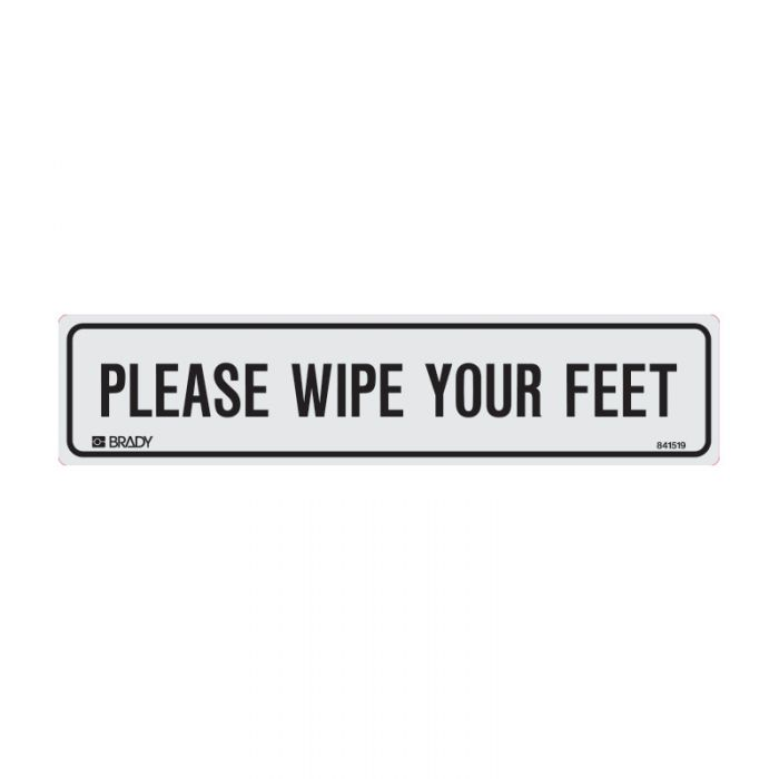 841519 Door Sign - Please Wipe You Feet