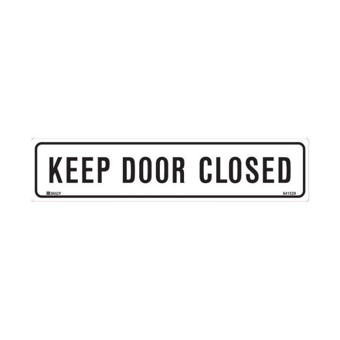 841529 Door Sign - Keep Door Closed