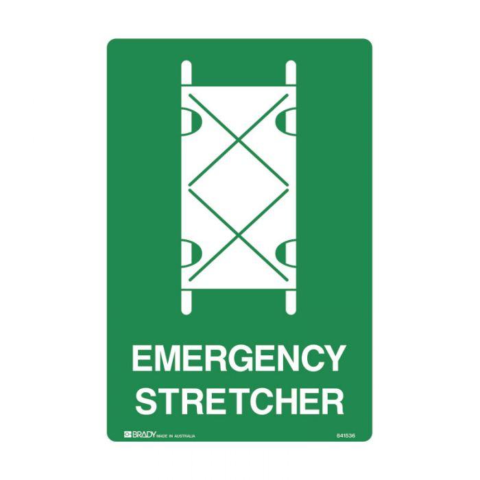 841536 Emergency Information Sign - Emergency Stretcher