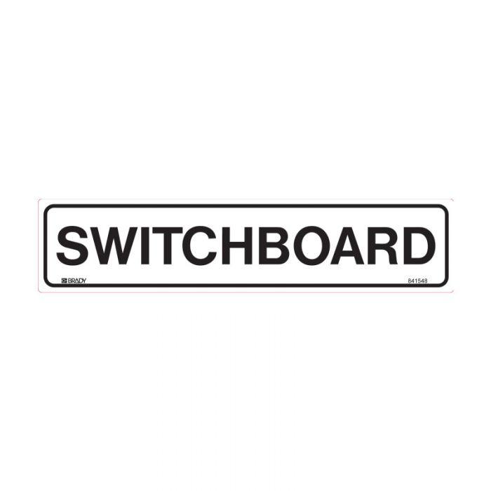 841548 Door Sign - Switchboard