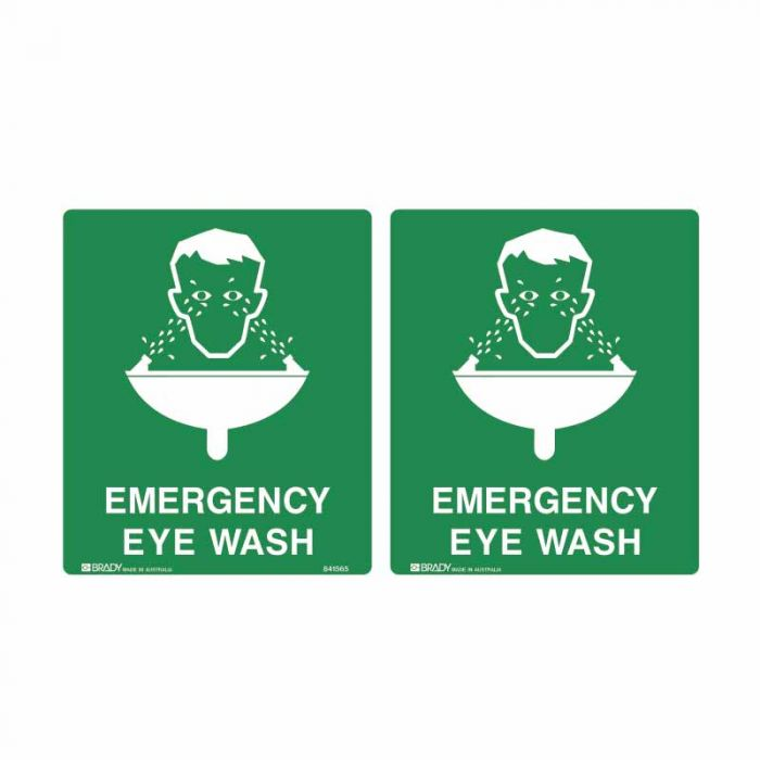841565 Emergency Information Sign - Emergency Eye Wash..