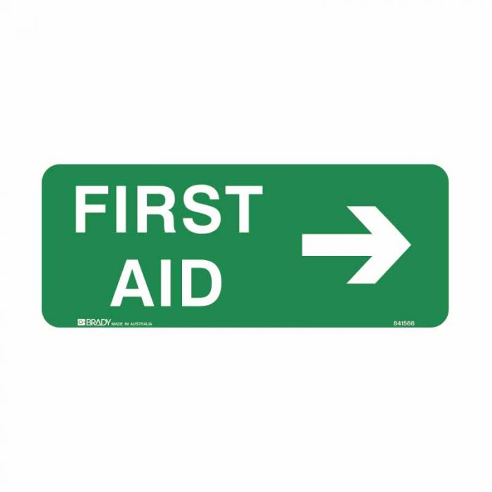 841566 Emergency Information Sign - First Aid Arrow Right