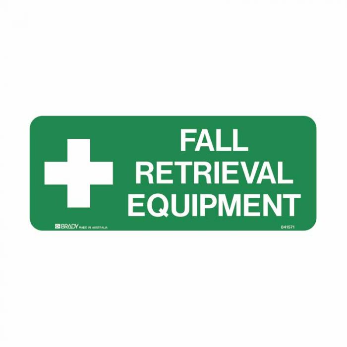 841571 Emergency Information Sign - Fall Retrieval Equipment