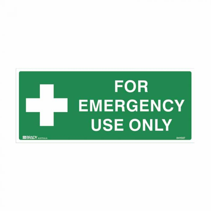 841588 Emergency Information Sign - For Emergency Use Only