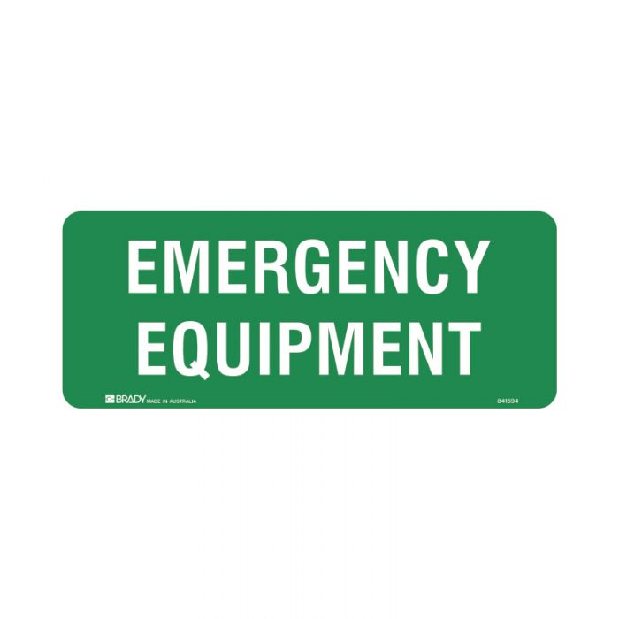 841594 Emergency Information Sign - Emergency Equipment