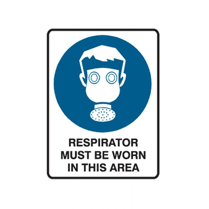841778 Small Stick On Labels - Respirator Must Be Worn In This Area