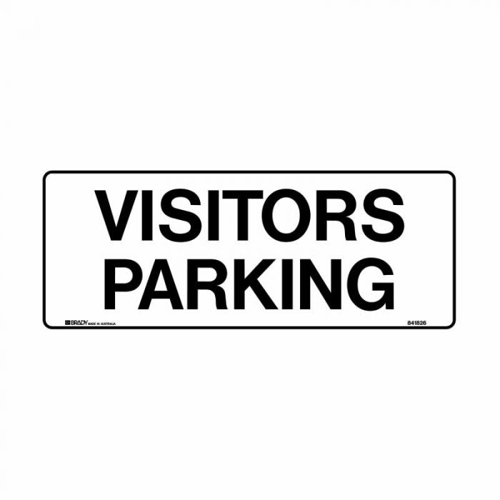 841827 Building & Construction Sign - Visitor Parking