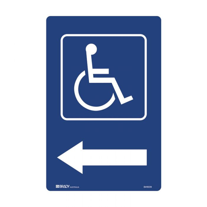 841839 Accessible Traffic & Parking Sign - Disabled Picto Arow Right