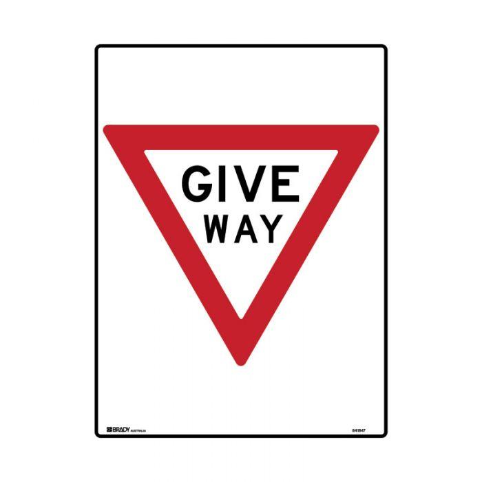 841848 Directional Traffic Sign - Give Way Rectangular