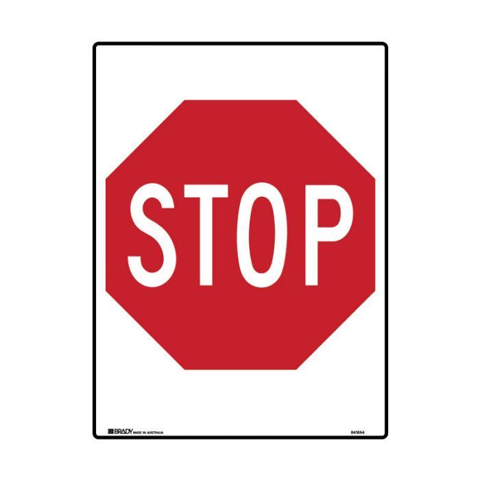 Directional Traffic Sign - Stop Sign - Rectangular