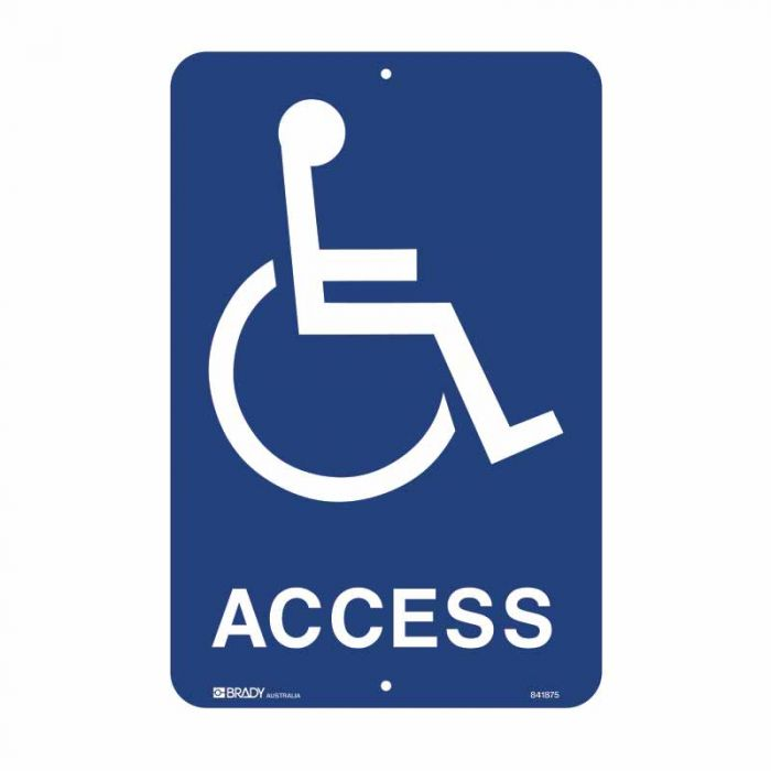 841874 Accessible Traffic & Parking Sign - Access