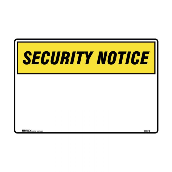 841919-Blank-Safety-Sign---Security-Notice