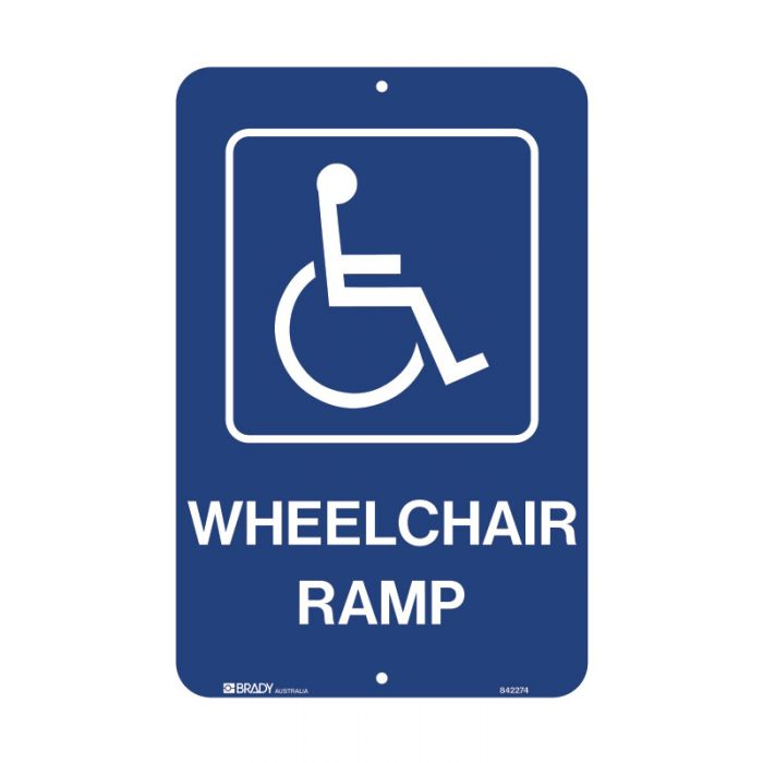 842274 Accessible Traffic & Parking Sign - Wheelchair Ramp