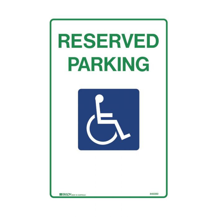 842282 Accessible Traffic & Parking Sign - Reserved Parking