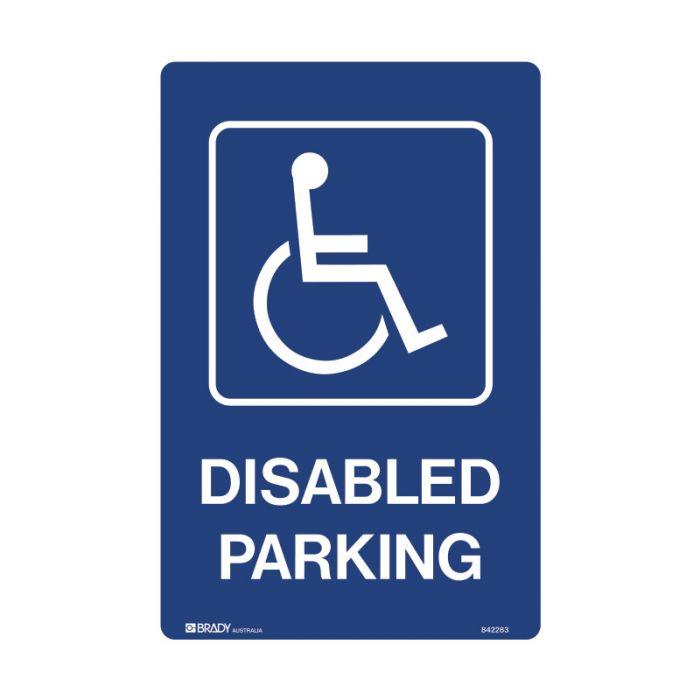 842283 Accessible Traffic & Parking Sign - Disabled Parking Portrait