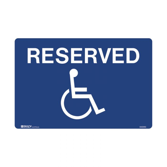 842293 Accessible Traffic & Parking Sign - Reserved