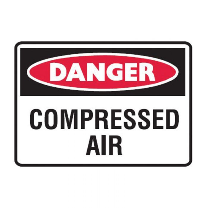 842508 Small Stick On Labels - Danger Compressed Air
