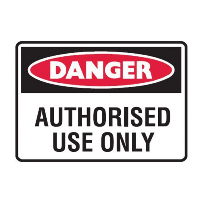 842540 Small Stick On Labels - Danger Authorised Use Only