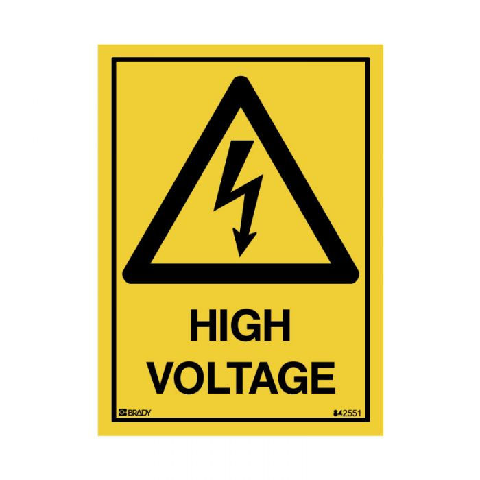 842551 Small Stick On Labels - High Voltage