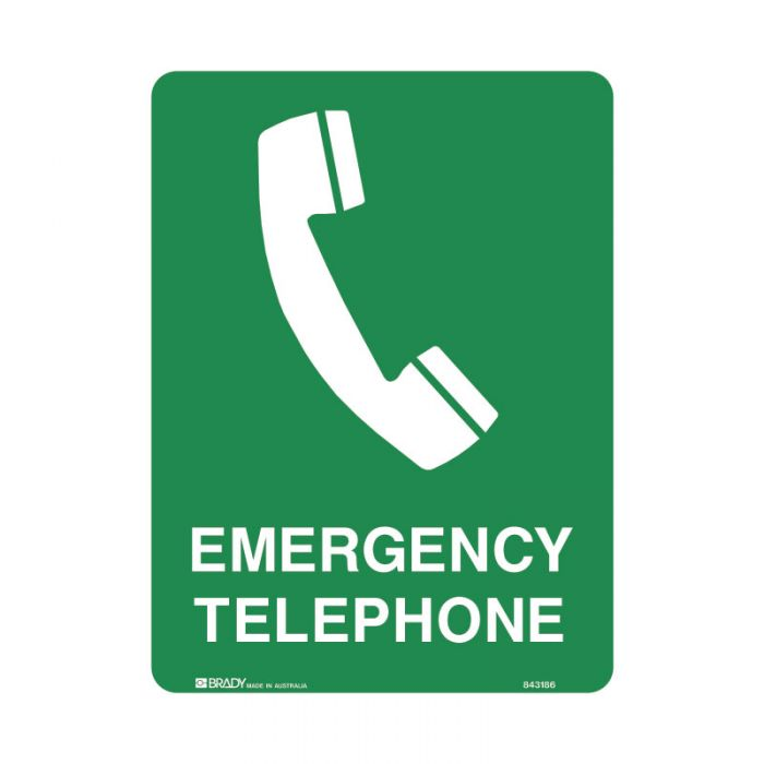 843185 Emergency Information Sign - Emergency Telephone