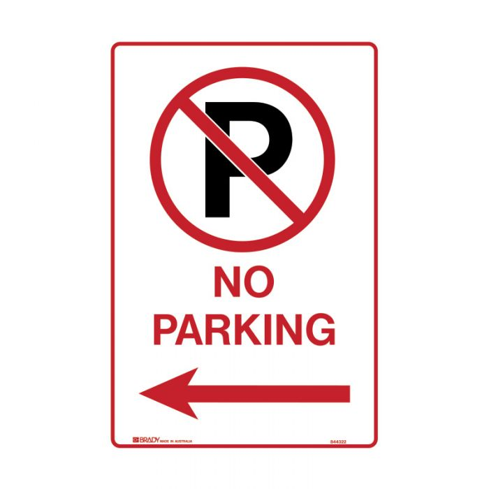 843198 Parking & No Parking Sign - No Parking Picto Arrow Left