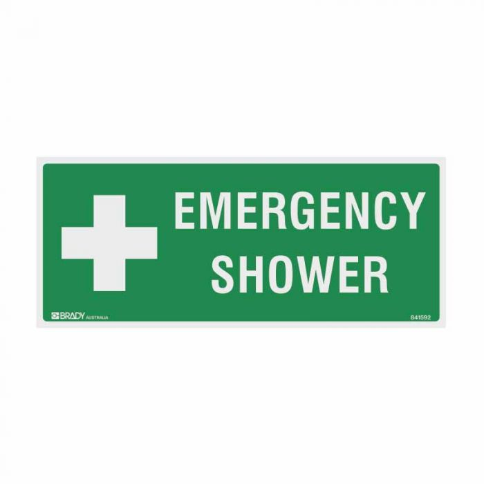 843229 Emergency Information Sign - Emergency Shower