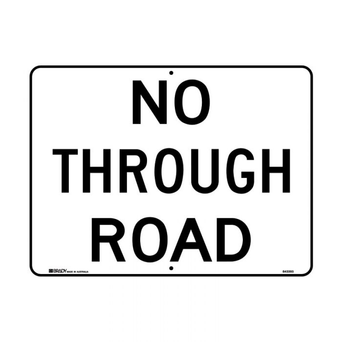 843393 Directional Traffic Sign - No Through Road