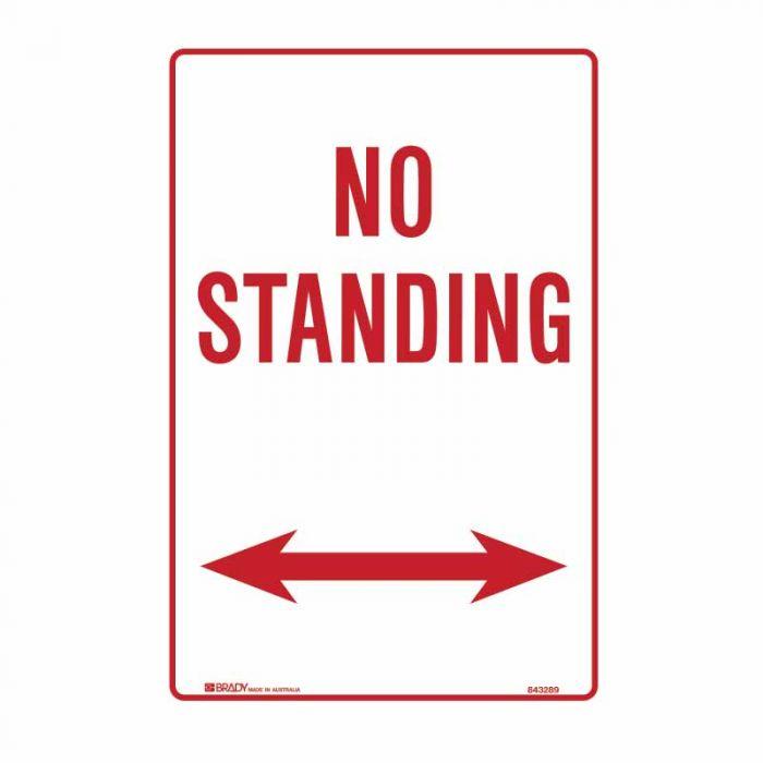 843449 No Standing Sign - No Standing Arrow Both Ways