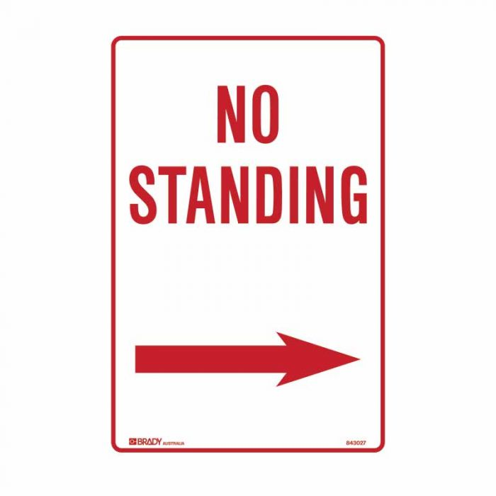 844041 No Standing Sign - No Standing Arrow Right