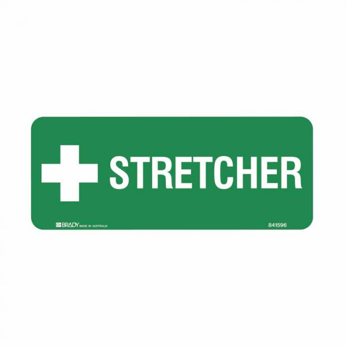 844055 Emergency Information Sign - Stretcher
