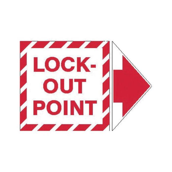 845324 Lockout Tagout Labels - Arrow Labels Lock-Out Point Pack