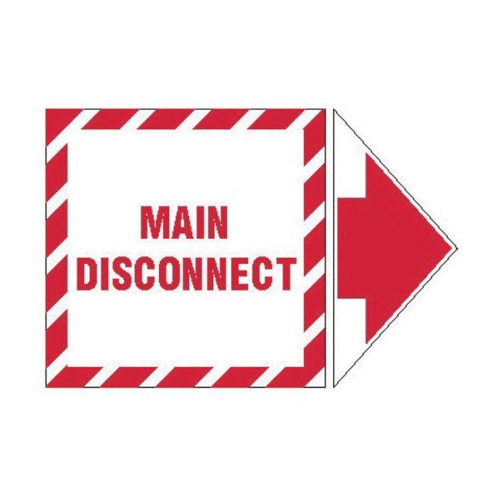845327 Lockout Tagout Labels - Arrow Label Main Disconnect